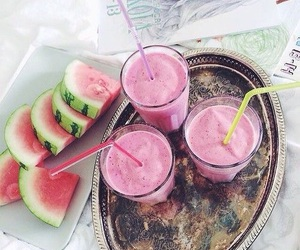 food, watermelon, and juice image