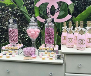 chanel, pink, and champagne image