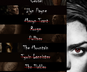 got, joffrey lannister, and arya's list image