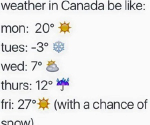 canada, funny, and weather image