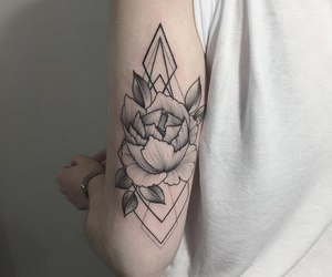 tattoo, arm, and flower image