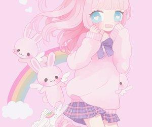 art, kawaii, and pink image