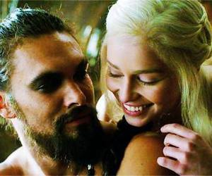 game of thrones, khaleesi, and khal drogo image