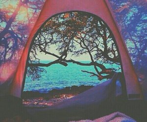 nature, sea, and camping image