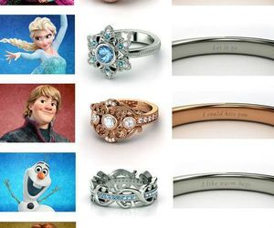 frozen, olaf, and rings image