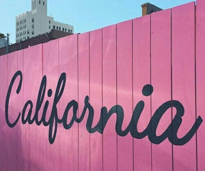 california, pink, and summer image