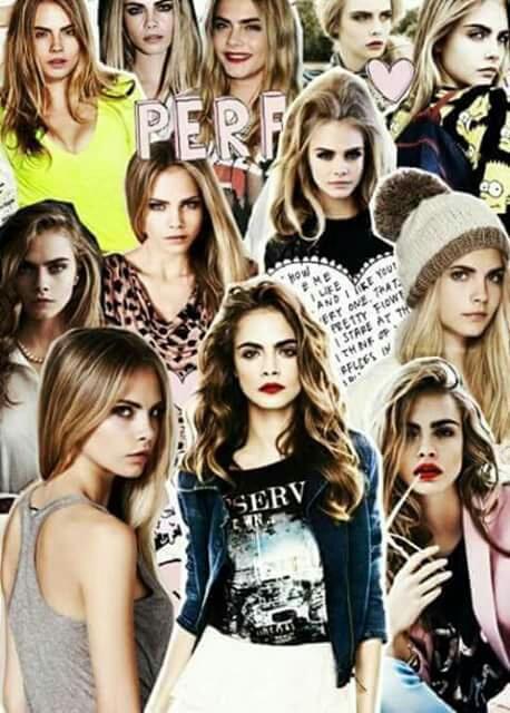cara delevingne, model, and Collage image