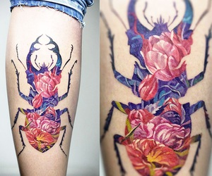 beetle, body, and floral image
