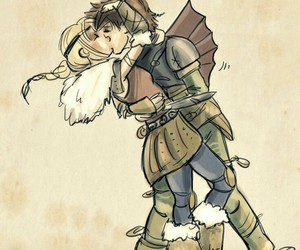 astrid, hiccup, and httyd2 image
