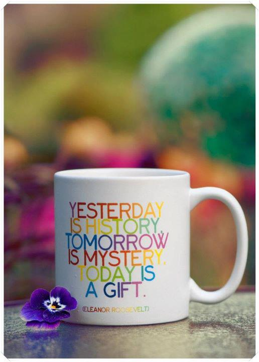 quote, yesterday, and cup image