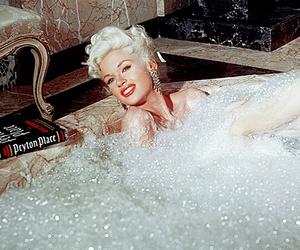 60's, bathtub, and blonde image