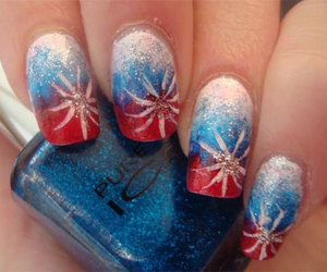 american flag nails, fourth of july nails, and 4th of july acrylic nails image