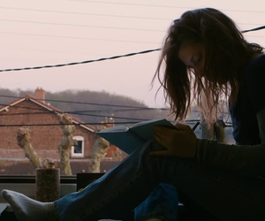 girl, grunge, and book image