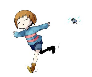 runing, frisk, and megalovania image