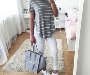 jeans, stripes, and outfits image
