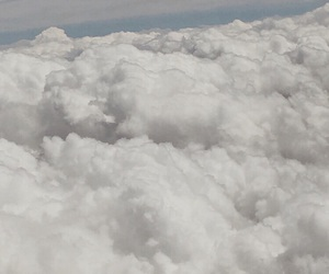 airplane, blanket, and clouds image