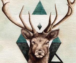 wallpaper, hipster, and deer image