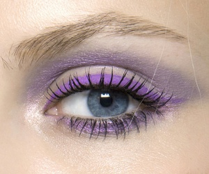 purple, makeup, and eye image