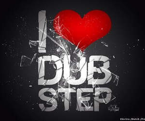 dubstep, music, and heart image