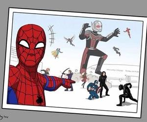 civil war, Marvel, and spiderman image