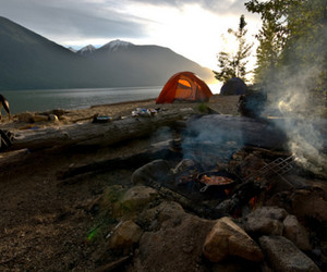 camp, camping, and mountains image