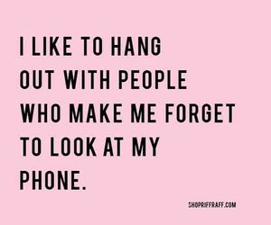 quotes, phone, and friends image