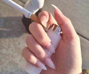 nails, cigarette, and smoke image