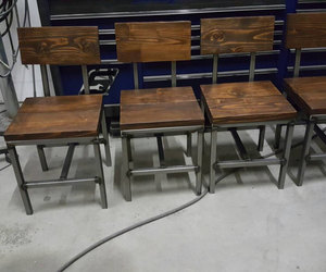 industrial furniture, modern chair, and set of 4 image