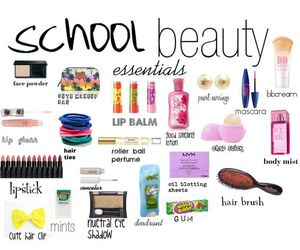 school, beauty, and essentials image