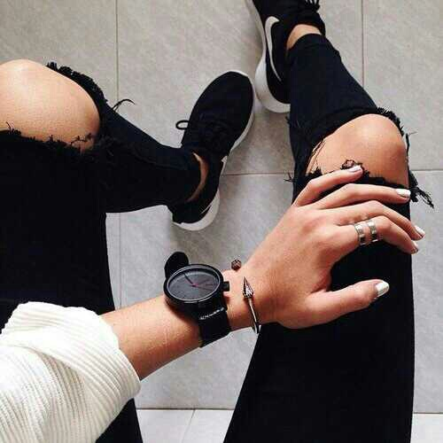 fashion, black, and nike image