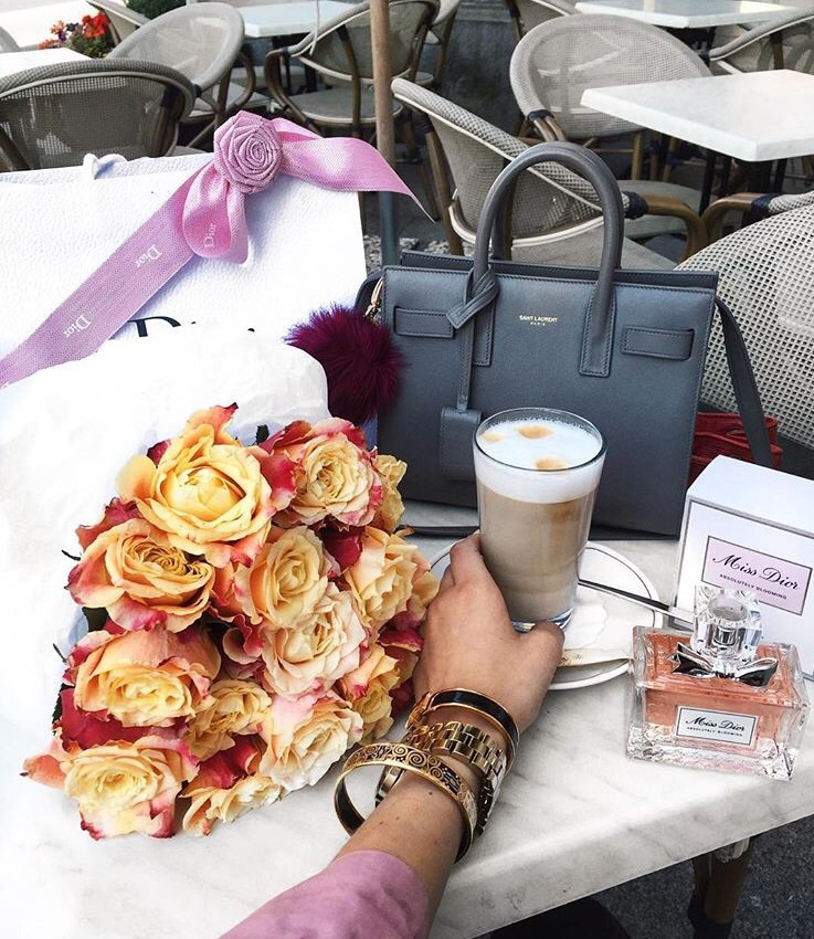 flowers, dior, and luxe image