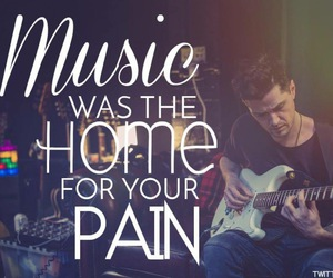 home, music, and pain image