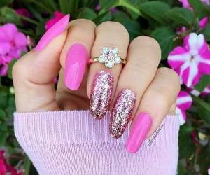 glittery, pink, and ring image