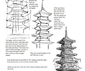 art, how to draw, and pagoda temple image