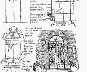 art, how to draw, and arched door image