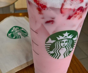 pink and starbucks image