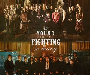 harry potter, hogwarts, and dumbledore's army image