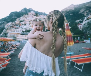 baby, blonde, and hair image
