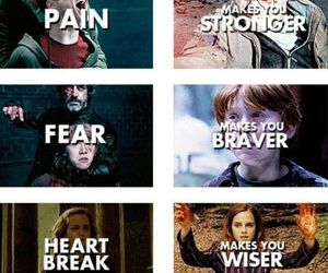 harry potter, hermione, and pain image