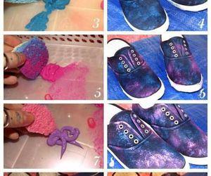 diy, shoes, and galaxy image