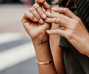 nails, tattoo, and fashion image
