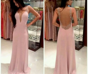 fancy, prom dress, and dusty-pink image