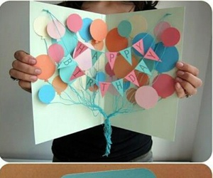 birthday, diy, and card image