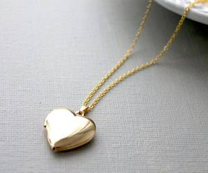 heart, gold, and jewelry image