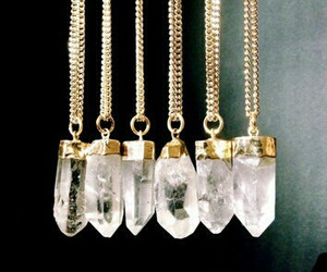 crystal, necklace, and grunge image