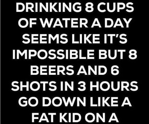 alcohol, drink, and water image
