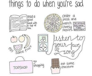 sad, chocolate, and music image