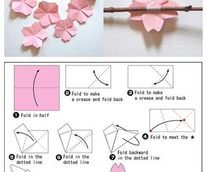 origami, sakura, and diy image