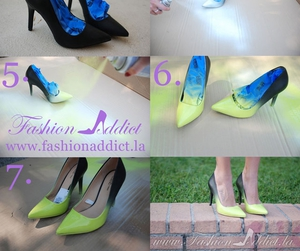 diy, ombre, and shoes image