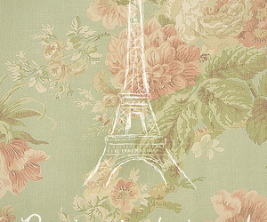 paris, flowers, and vintage image